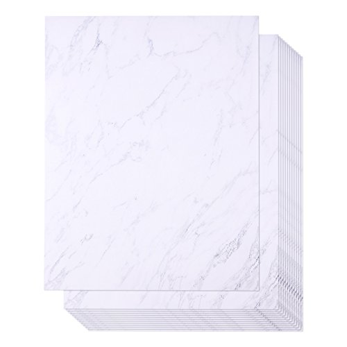 96 Pack Marble Stationery Paper - Letterhead - Decorative Design Paper - Double Sided - Printer Friendly, 8.5 x 11 Inch Letter Size - Letterhead Design Paper