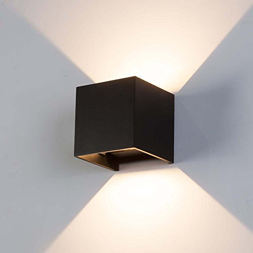 Black square outdoor wall light amazon aloadofball Image collections