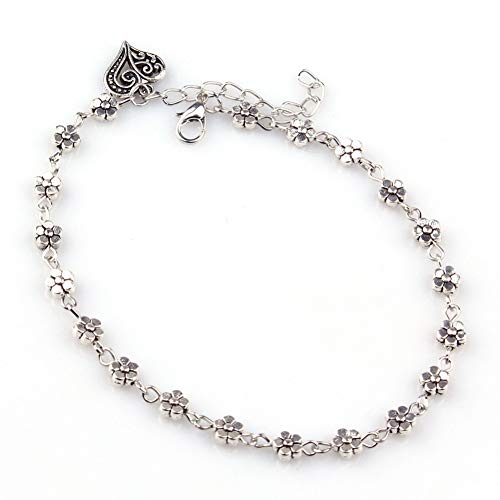 CTRCHUJIAN Anklet Ladies Silver Bead Chain Anklet Ankle Bracelet Barefoot Sandals Beach feet