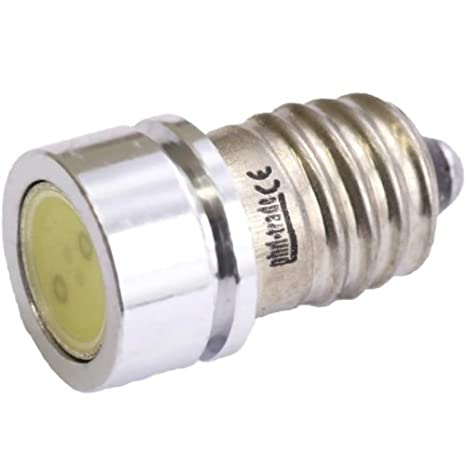 Bombilla LED SMD E10 (Casquillo roscable, 6 V, Blanco Xenón bicicleta COB tipo 1 W Power: Amazon.es: Iluminación