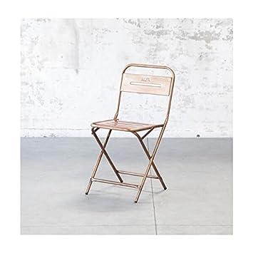 MATHI DESIGN Silla Plegable de Acero, diseño Vintage: Amazon ...