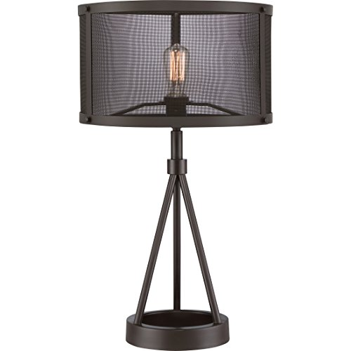Quoizel Lamp Shades - Quoizel UST6127WT 1-Light Union Station Table Lamp in Western Bronze