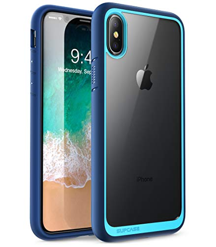 SUPCASE [Unicorn Beetle Style] Case Designed for iPhone X, iPhone XS, Premium Hybrid Protective Clear Case for Apple iPhone X 2017/ iPhone XS 2018 Release (Navy)