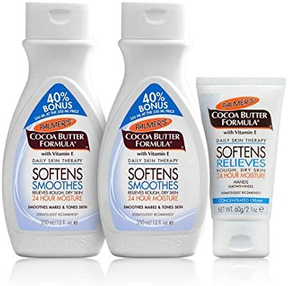 Palmer's Cocoa Butter Lotion Bonus Pack [FREE – 40% EXTRA] | 2 x Cocoa Butter Formula Body Lotion 350ml | Cocoa Butter Formula Concentrated Cream 60g