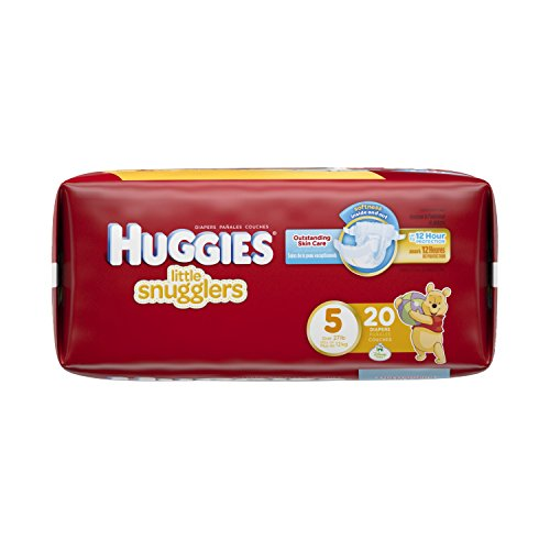Huggies Little Snugglers Baby Diapers, Size 5, 20 Count (Packaging May Vary)