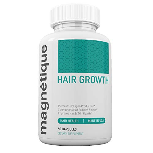 Magnetique Hair Growth -Promotes Stronger, Longer, Healthier Hair - GMO Free with Natural Ingredients