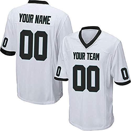 ytgls Custom Football Team Designated Player Game Jersey #3-#18Youth 2XLOrange-White