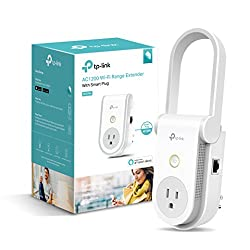 Kasa Ac1200 Wi-fi Range Extender Smart Plug By Tp-link - Fast Ac1200 Wi-fi Extenderrepeater With Built-in Smart Plug, No Hub Required, Works With Alexa & Google Assistant (Re370k)