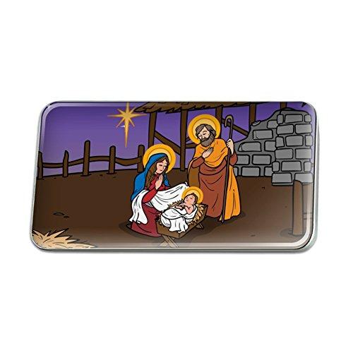 GRAPHICS & MORE Nativity Scene Baby Jesus Mary Joseph Rectangle Lapel Pin Tie Tack