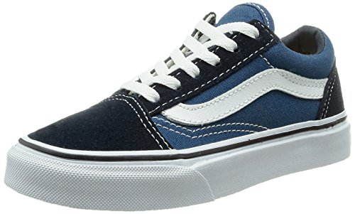 Vans Kids Old Skool Navy/True White Skate Shoe Size 4