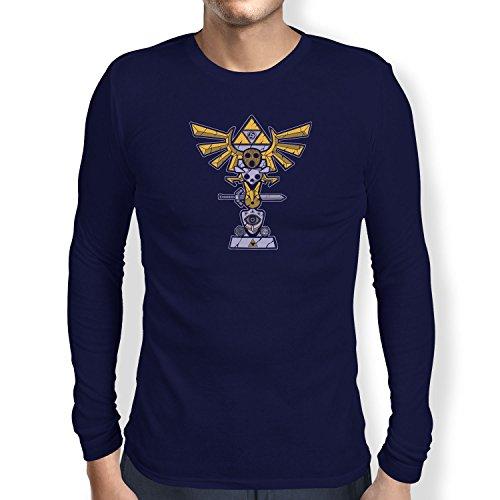 TEXLAB - Triforce Totem - Herren Langarm T-Shirt, Größe S, navy