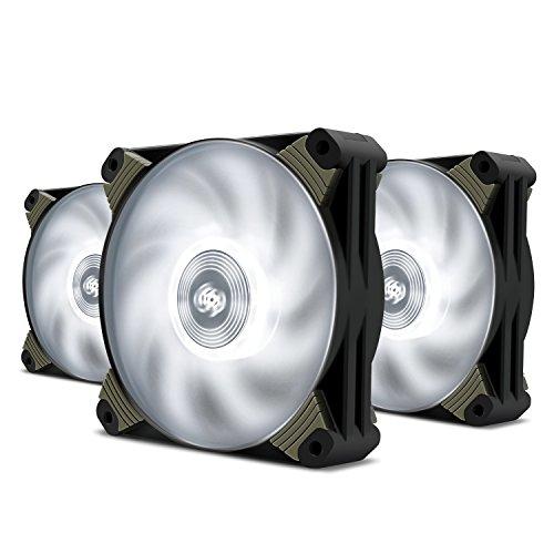 80mm fan white led - 6