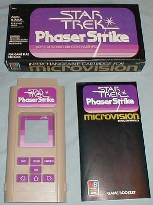 Star Trek  Phaser Strike  Microvision Game Cartridge