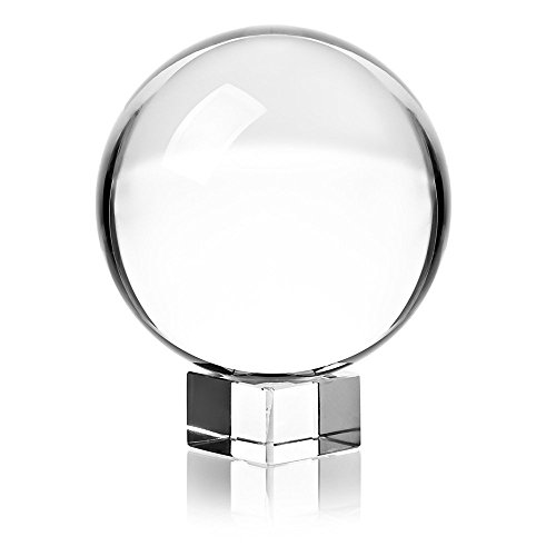 Clear Crystal Ball with Stand for Photography Decoration