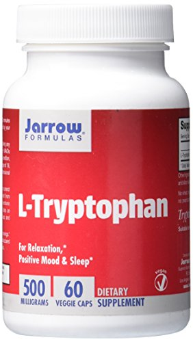 Jarrow Formulas L-Tryptophan, For Relaxation, Positive Mood & Sleep, 500 mg, 60 Veggie Caps