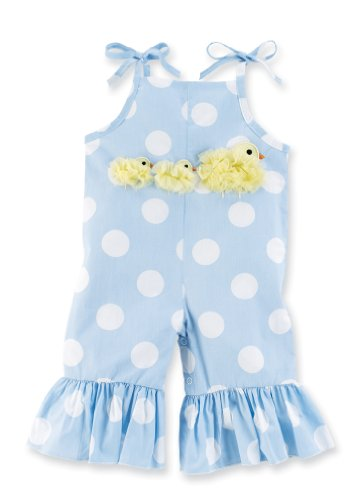 UPC 718540110690, Mud Pie Spring Baby Chiffon Chick Longall, Blue/White, 0 6 Months