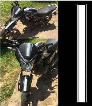 Wooya Motocicleta Tanque Carenado Capucha Rayas Rayas Etiqueta Etiqueta Engomada del Vinilo para Cafe Racer-Blanco