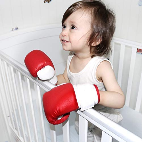 BabyBoxingClub Wearable Baby Boxing Gloves: Premium Infant Boxing Gloves/Photography Prop Boxing Gear| Realistic Design & Shape Synthetic Leather Boxing Gloves for Babies 0-24 Months|Top Gifting Idea -