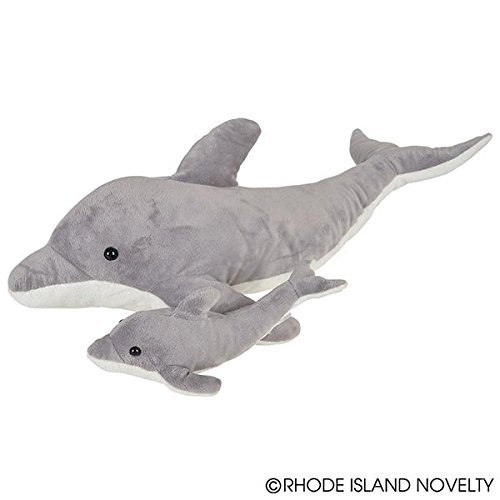 Dolphin Plush - Adventure Planet Birth of Life Dolphin with Baby Plush Toy 22