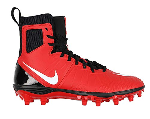 Nike Men's Force Savage Varsity Football Cleats (10 M US, University Red/White/Black)