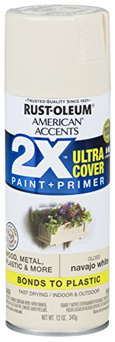 Rust-Oleum 327882-6 PK American Accents Spray Paint, Gloss Navajo White