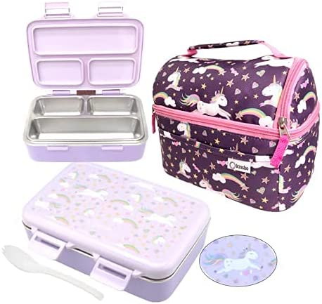 Unicorn Stainless Steel Bento Lunch Super popular specialty store Box Luxury goods for and Bag Set Toddlers