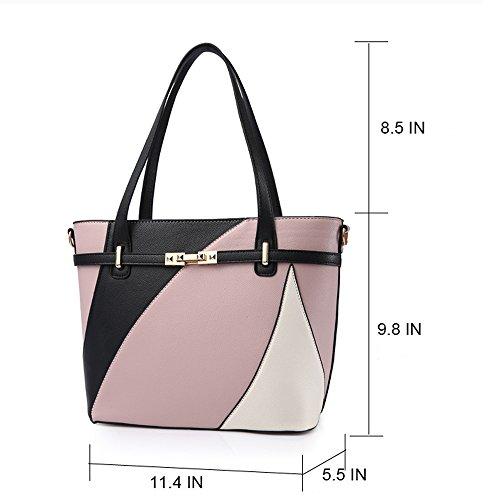 Top Handle Bags for Women Leather Tote Purses Handbags Satchel Crossbody Shoulder Bag form Nevenka (Red) by Nevenka (Image #7)