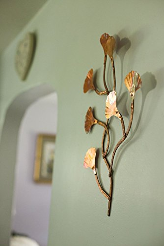 Small Hand Made All Copper GINGKO Leaves Wall Hanging