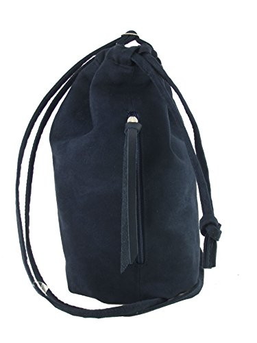 Suede in LONI Womens Bag Crossbody Maid Navy Leather Shoulder Handbag Faux Manc Drawstring Backpack v1vRw
