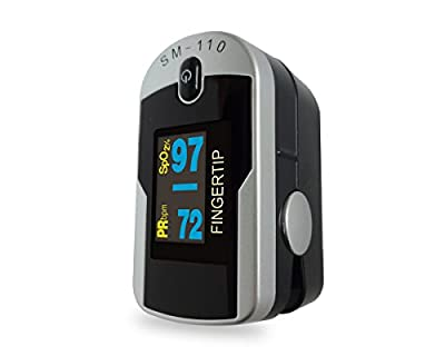 Santamedical Generation 2 Fingertip Pulse Oximeter Oximetry Blood Oxygen Saturation Monitor with Batteries and Lanyard