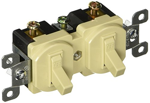 Morris 82090 Double Toggle Switch, Single Pole, 120V, 15 Amp Current, ()