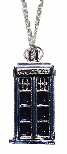 [Dr. Who TARDIS 3D Blue Pendant NECKLACE] (Matt Smith Costume)