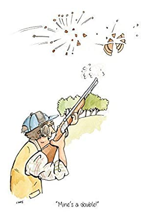 Mines A Double A5 Clay Pigeon Shooting Greeting Card With Envelope
