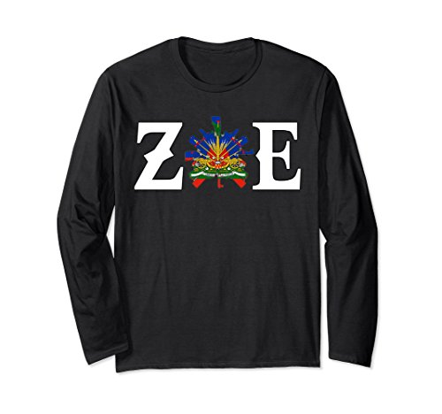 Unisex Zoe Haitian Long Sleeve T-shirt XL: Black