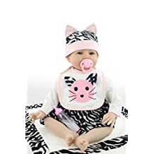 NPK Collection Reborn Baby Doll Soft Silicone 22inch 55cm Magnetic Lovely Lifelike Cute Lovely Cat Little Girl Toy