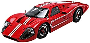 Ford GT MK IV Hard Top (1967, (1:18) scale diecast model car, Red/w White stripes)