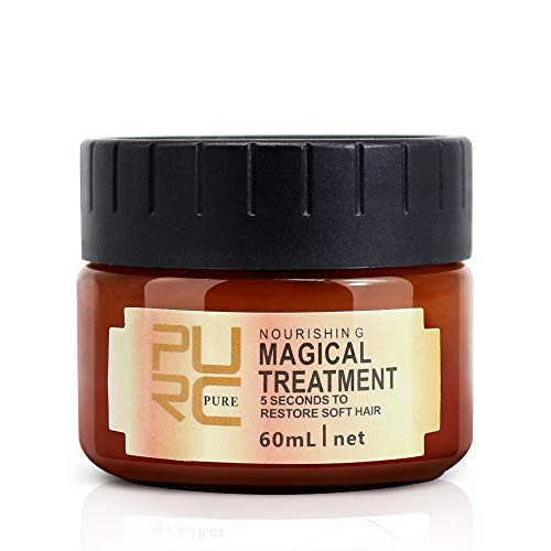 Magical Hair Treatment Mask, Advanced Molecular Hair Roots Treatment Professtional Hair Conditioner, 5 Seconds to Restore Soft Hair, Instantly Service the Dry and Rough Hair Ends-60ml