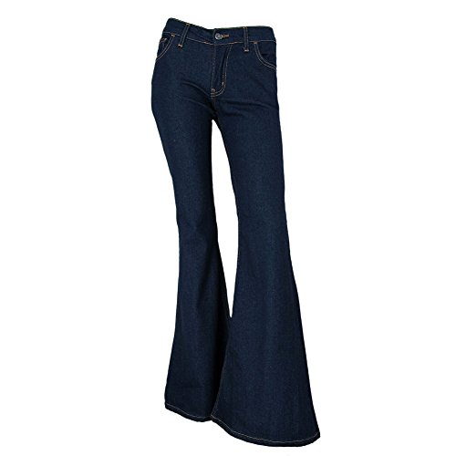Star Flare Jean - Fans London Bell Bottom Indigo Jeans Size UK 14/US 10