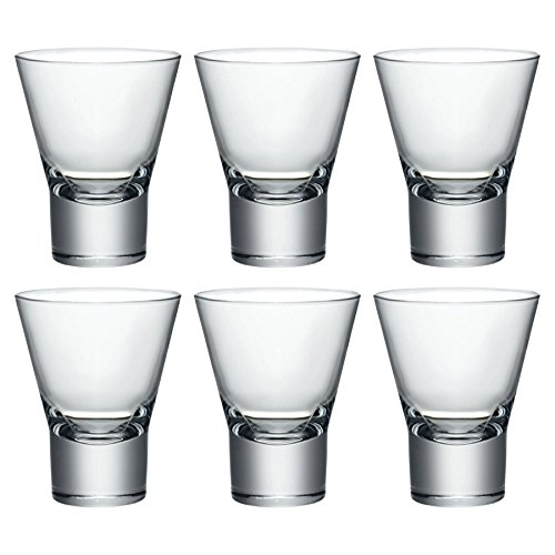 - Bormioli Rocco Ypsilon Dessert / After Dinner Drinks Glasses - Set of 6 - 150ml (5oz)