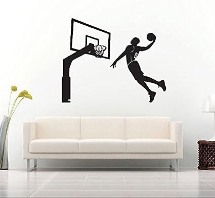 Amazon.com: Amoonm - Vinilo extraíble para baloncesto de 9.6 ...