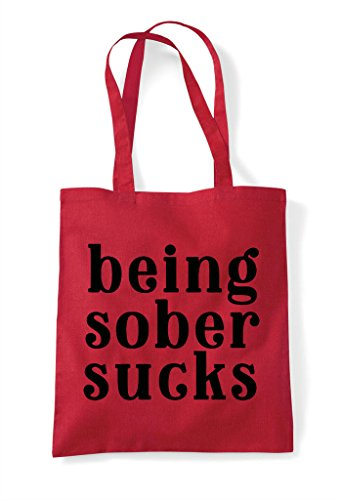 Red Shopper Sucks Bag Sober Statement Being Tote WTB8Yvwwq