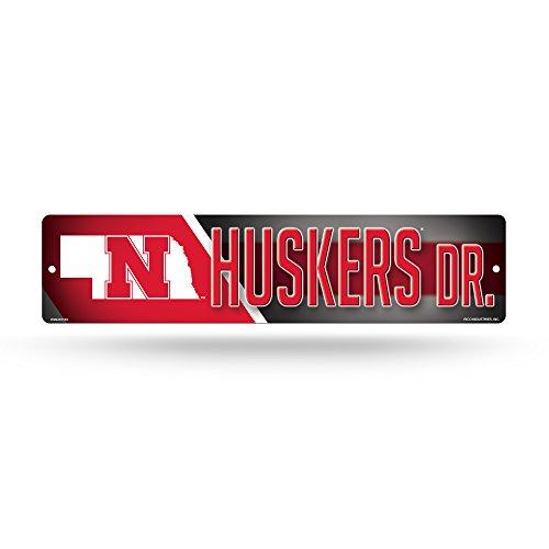 NCAA Nebraska Cornhuskers 16-Inch Plastic Street Sign Décor - Ncaa Nebraska Cornhuskers Street Sign