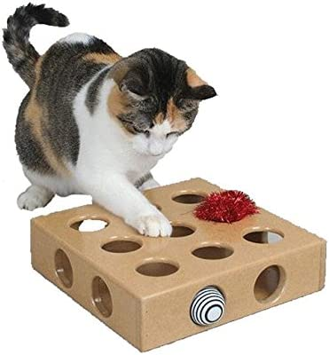 OCSOSO - Caja interactiva de juguete para gato y gato – gran regalo para cualquier gato: Amazon.es: Productos para mascotas