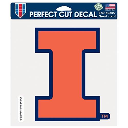 Glass Fighting Illini Illinois (NCAA Illinois Illini Fighting Illini Perfect Cut Color Decal, 8 x 8