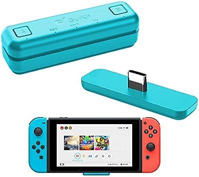 WeChip Adaptador de transceptor USB de Audio Bluetooth GuliKit Route Air para Nintendo Switch/Switch Lite / PS4 / PC, 5 mm, sin retraso, Plug and Play, Azul: Amazon.es: Electrónica