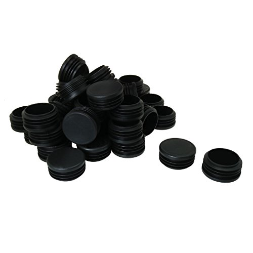 uxcell 1 3/4'' 1.77'' OD Plastic Round Tube Insert Glide End Cap Pad 45pcs 1.61''-1.69'' Inner Dia for Furniture Floor Deck Non-scratch by uxcell