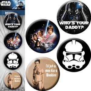 "Licenses Products Star Wars Jedi Assorted Artworks 1.25"" Button Set, 4-Piece"