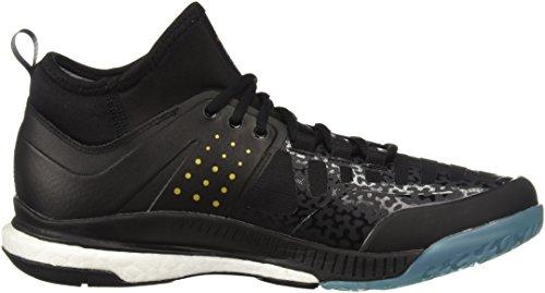 adidas Originals Men's Crazyflight X Mid Volleyball Shoes (Core Black, Gold Met., Icey Blue F17)