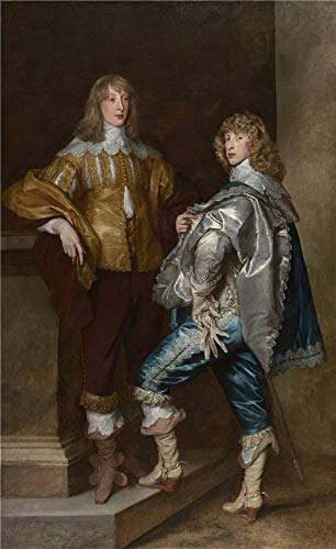 'Anthony Van Dyck Lord John Stuart And His Brother Lord Bernard Stuart ' Oil Painting, 16 X 26 Inch / 41 X 66 Cm ,printed On Perfect Effect Canvas ,this Reproductions Art Decorative Prints On Canvas Is Perfectly Suitalbe For Bedroom Decor And Home Artwork And Gifts -