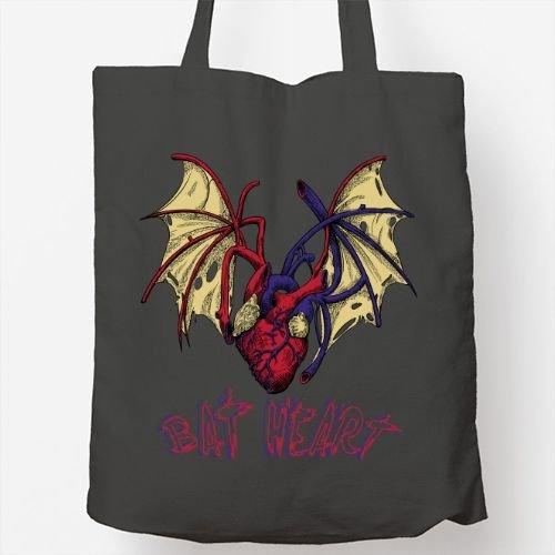 Bolso Totebag - Diseño original - BAT HEART hangbag